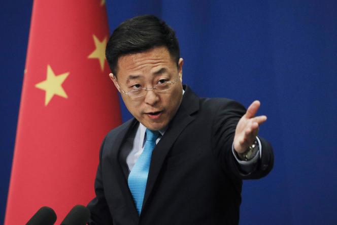 Le porte-parole du ministère chinois des affaires étrangères,Zhao Lijian, le 24 février 2020à Pékin.
