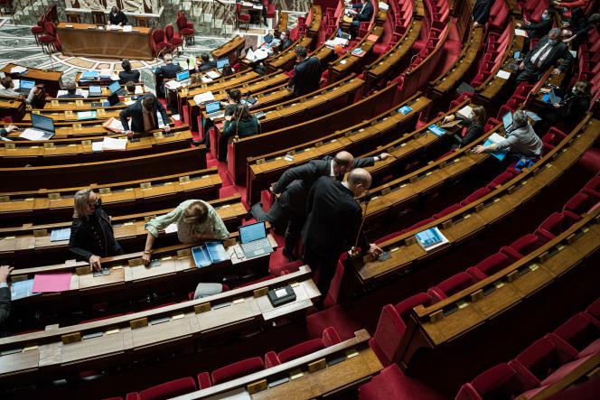 A l'Assemblée nationale, le 12 février.