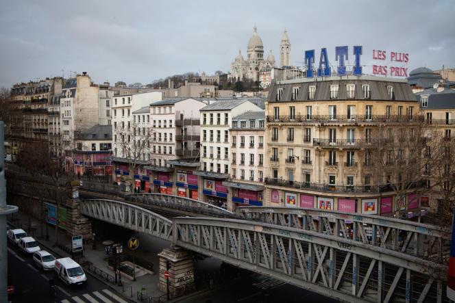 Le magasin Tati, boulevard Rochechouart, à Paris.