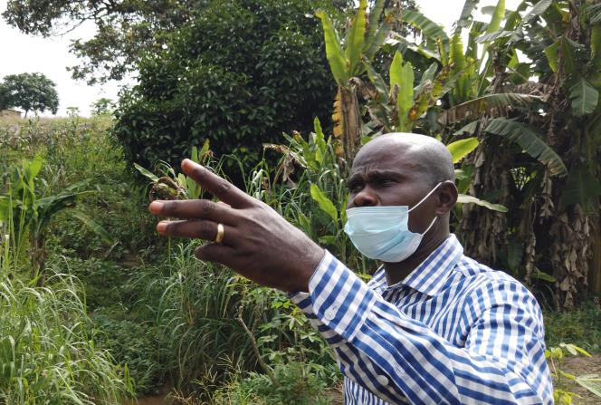 Jean de Dieu Minengu, coordonnateur adjoint de l'Agence congolaise de la transition écologique et de développement durable, à Kimwenza, le 15décembre 2020.