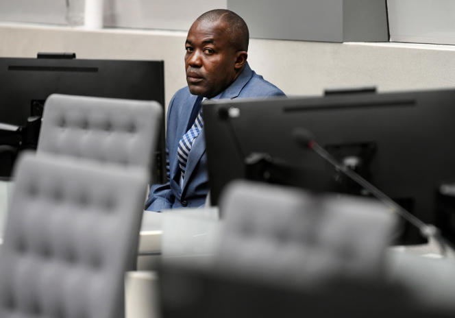 Le Centrafricain Alfred Rombhot Yekatom à la Cour pénale internationale, à LaHaye, le 23novembre 2018.