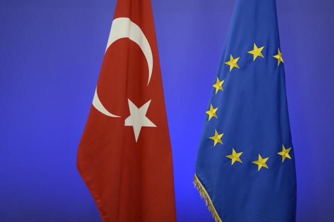 Lors d'un sommet entre l'Union européenne et la Turquie, le 29 novembre 2015, à Bruxelles.