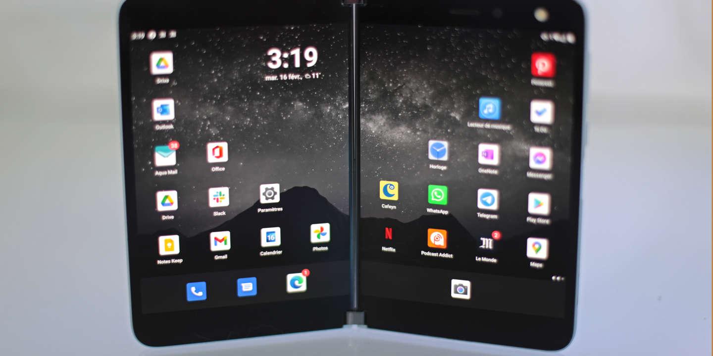 On a testé… le smartphone à deux écrans de Microsoft, le Surface Duo : un gros bosseur ? - Le Monde