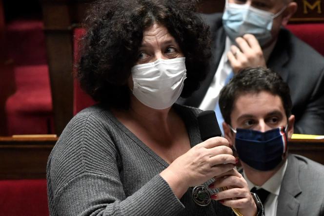 La ministre de l'enseignement supérieur, de la recherche et de l'innovation, Frédérique Vidal, s'exprime lors d'une séance de questions au gouvernement à l'Assemblée nationale, le 19 janvier.