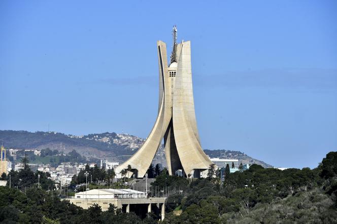 Le Mémorial du martyr, «Maqam Echahid», commémorant la guerre d'indépendance algérienne, le 21 janvier 2021 à Alger.