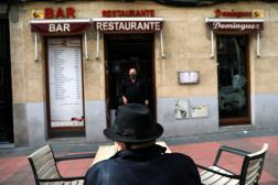 Une terrasse de bar-restaurant, à Madrid, le 17 février 2021.