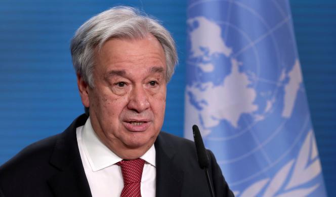 Le secrétaire général des Nations unies, Antonio Guterres, à Berlin, le 17 décembre 2020.