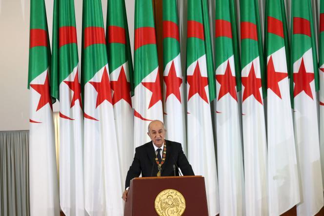 Le président algérien Abdelmadjid Tebboune, en décembre 2019 à Alger.
