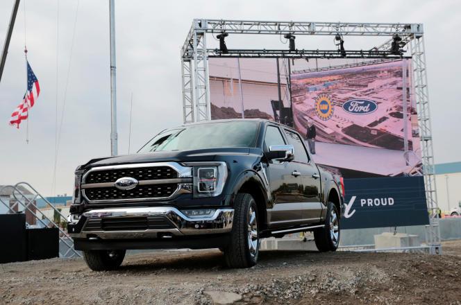 Le nouveau Ford F-150 présenté à Dearborn, Michigan, le 17 septembre 2020.