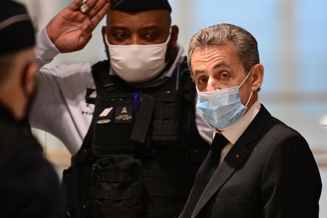 Nicolas Sarkozy, au tribunal de Paris, le 7 décembre 2020