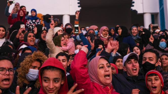Les habitants de la petite ville côtière de Fnideq ont manifesté pour la deuxième semaine, le 12 février.