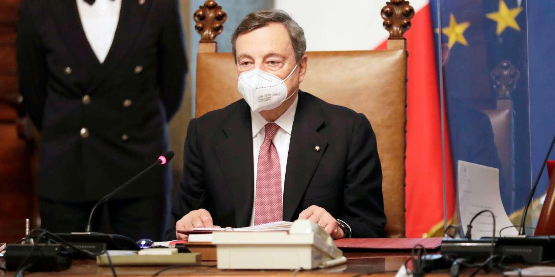 En Italie, Mario Draghi pousse la Ligue à accepter l'« irréversibilité de l'euro » - Le Monde