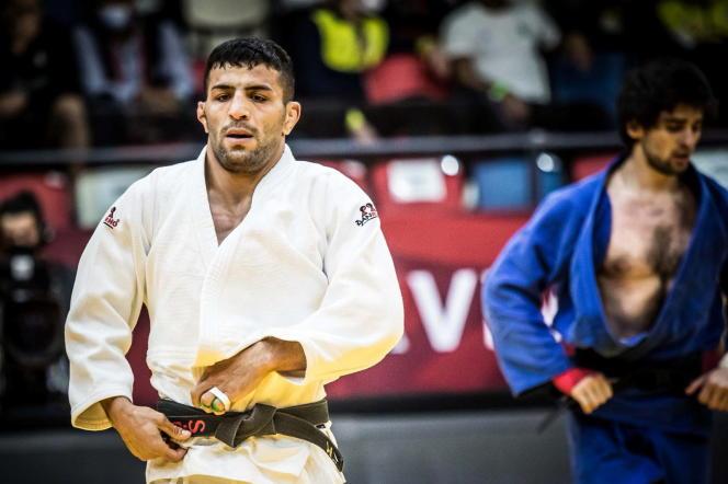 Le judoka iranien Saeid Mollaei, représentant la Mongolie, lors d'une compétition à Tel Aviv, le 19 février.