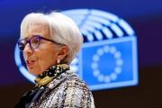 Christine Lagarde, préseidente de la Banque central européenne, au Parlement européen à Bruxelles, le 8 février 2021.