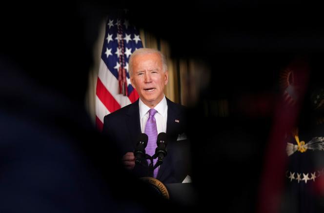 Joe Biden à la Maison Blanche, à Washington, le 26 janvier 2021.