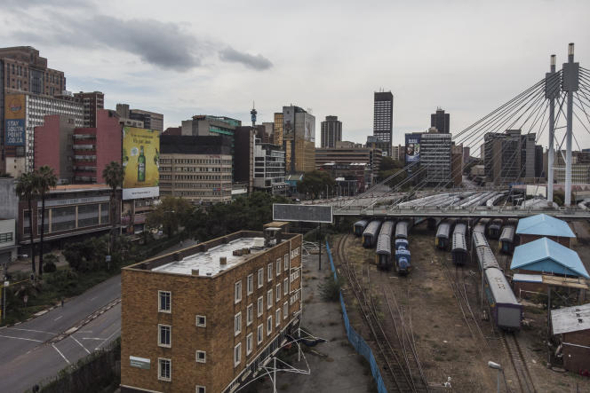 Park Station à Braamfontein, la gare principale dans le centre-ville de Johannesburg, en mars 2020.