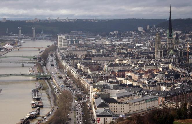 La ville de Rouen, le 20 février 2014.