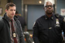 """BROOKLYN NINE-NINE -- """"Valloweaster"""" Episode 711 -- Pictured: (l-r) Andy Samberg as Jake Peralta, Andre Braugher as Ray Holt -- (Photo by: Jordin Althaus/NBC)"""