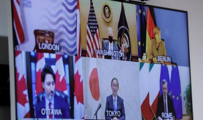 Los líderes del G7 se reúnen para una videoconferencia el 19 de febrero.