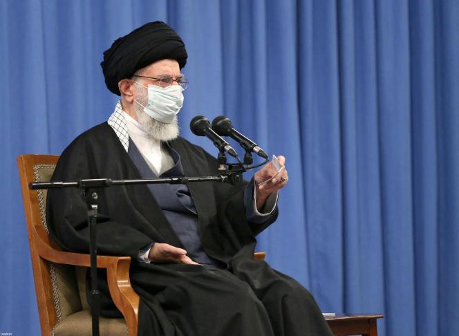 Le Guide suprême iranien,Ali Khamenei, le 21 février 2021.
