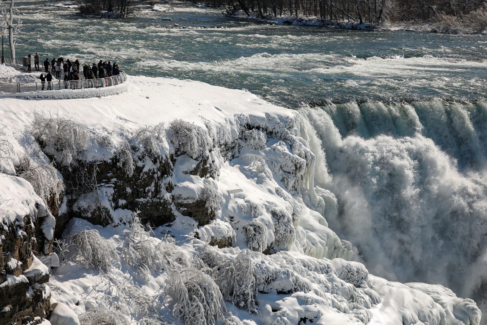 American Niagara Falls, EE. UU., 21 de febrero de 2021.