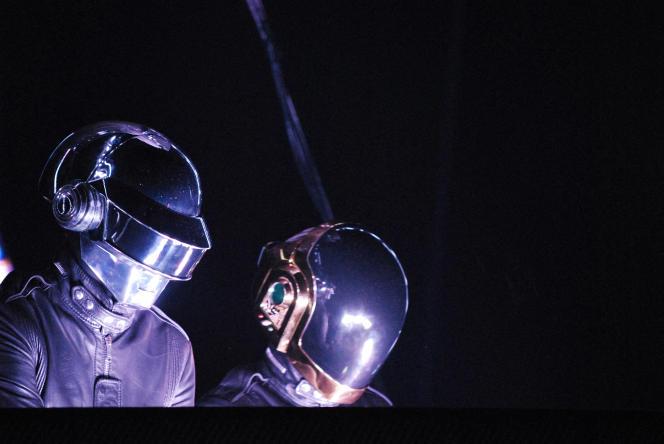 Thomas Bangalter et Guy-Manuel de Homem-Christo, du duo Daft Punk, à Paris, le 14 juin 2007.