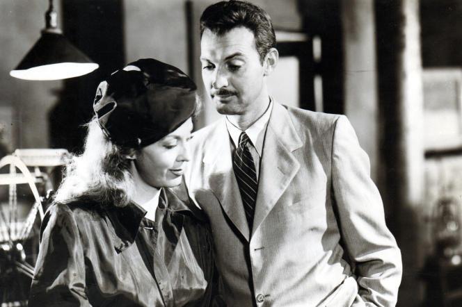 Kay Medford et Zachary Scott dans « Guilty Bystander », de Joseph Lerner.