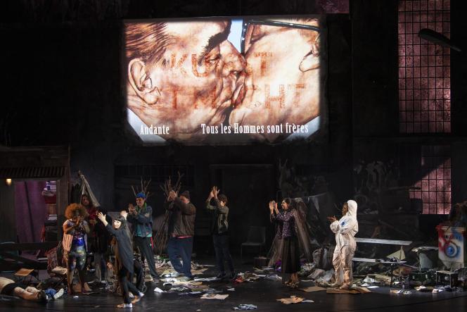 «La Clémence de Titus», de Mozart, mise en scène par Milo Rau au Grand Théâtre de Genève, en février 2021.