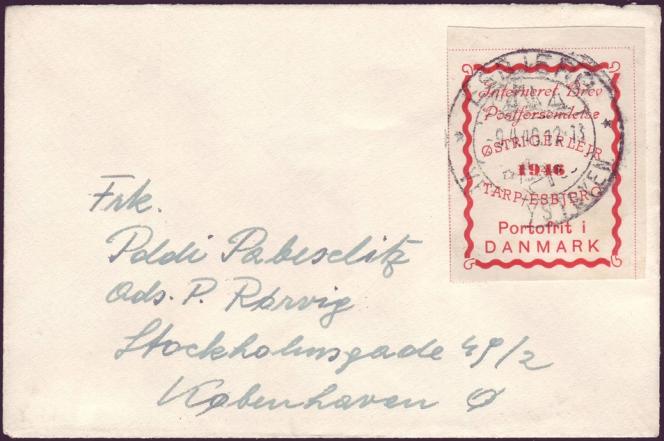 Timbre du camp de Tarp/Esbjerg (Danemark), en 1946.