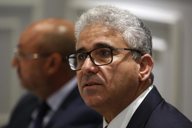 Le ministre libyen de l'intérieur, Fathi Bachagha, à Tunis, le 28 avril 2019.