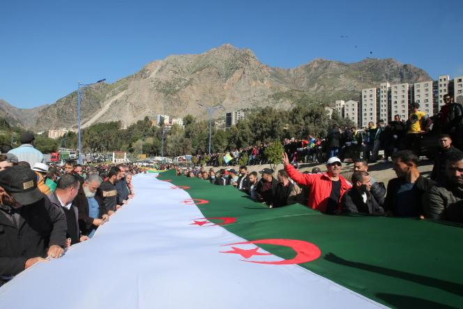 Manifestation à Kherrata, le 16 février 2021.