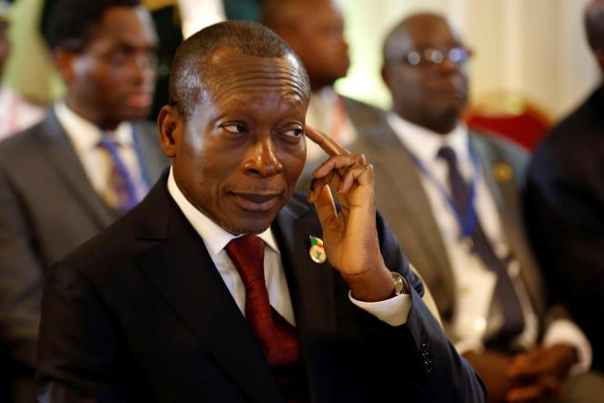 Le président béninois Patrice Talon est candidat à sa réélection. Ici, à Abidjan, en avril 2017.