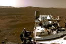 A portion of a panorama made up of individual images taken by the Navigation Cameras, or Navcams, aboard NASA?s Perseverance Mars rover shows the Martian landscape February 20, 2021. Images taken February 20, 2021. NASA/JPL-Caltech/Handout via REUTERS MANDATORY CREDIT. THIS IMAGE HAS BEEN SUPPLIED BY A THIRD PARTY. THIS IMAGE WAS PROCESSED BY REUTERS TO ENHANCE QUALITY, AN UNPROCESSED VERSION HAS BEEN PROVIDED SEPARATELY.