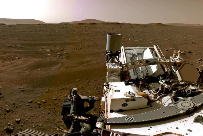 A bord du rover Perseverance de la NASA sur Mars, le 20février2021.