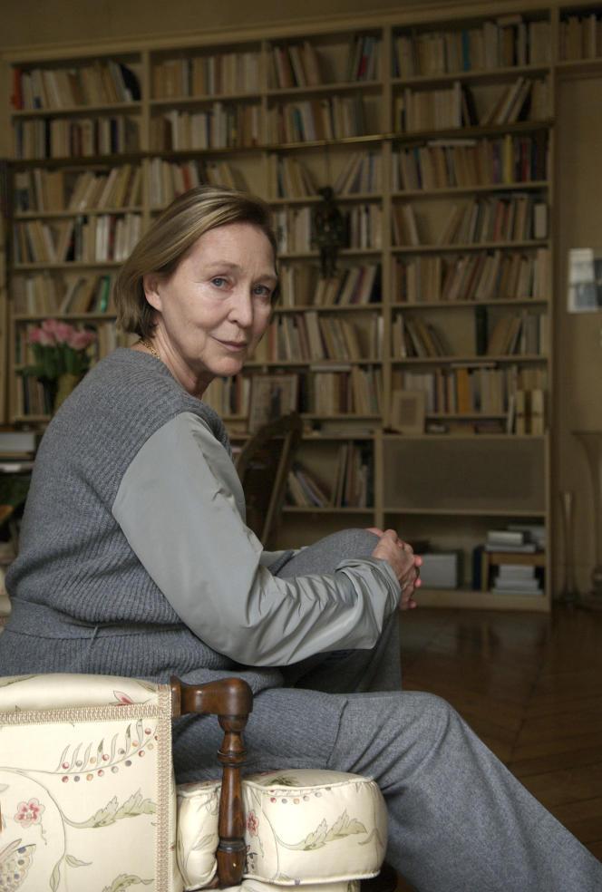 L'écrivaine Florence Delay, à Paris, en 2010.