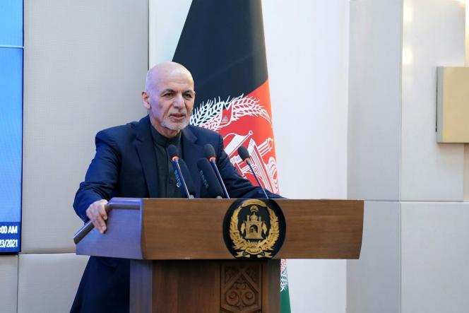 Le président afghan, Ashraf Ghani, le 23 février à Kaboul (photo transmise par le palais présidentiel).