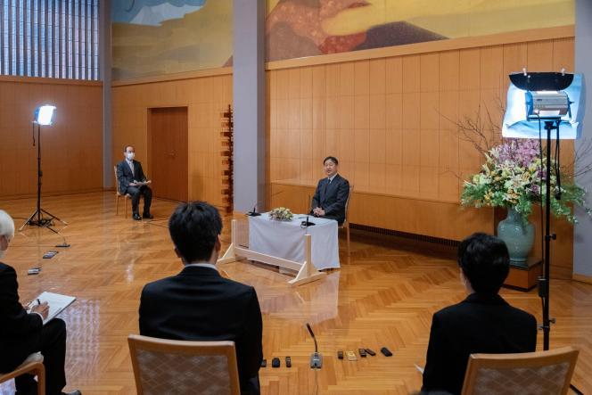 L'empereur Naruhito, le 23 février 2021 à Tokyo.