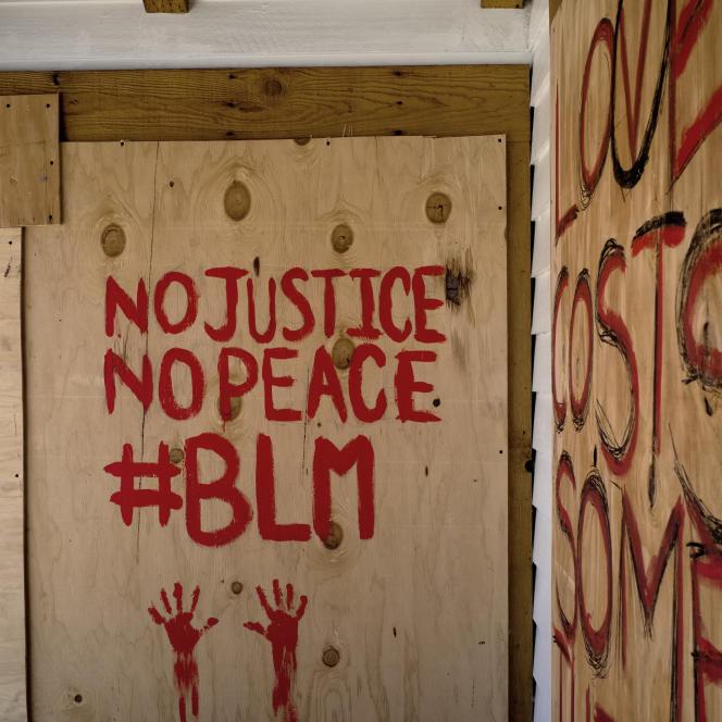 Un graffiti pour Black Lives Matter, à Venice, Los Angeles, en juin 2020.