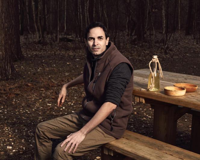 Geoffroy Delorme, dans la forêt de Louviers (Eure), le 17 février.