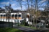 Devant le collège du Pont-de-Bois, à Saint-Chéron, le 23 février 2021.