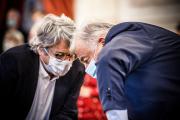 Jean-Louis Borloo et le président du Sénat, Gérard Larcher, le 8octobre2020.