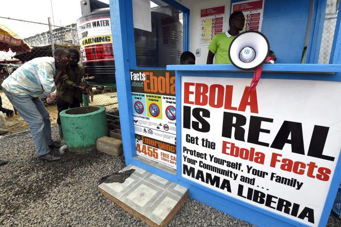 Lors de la précédente épidémie d'Ebola en septembre 2014 à Monrovia, au Liberia.