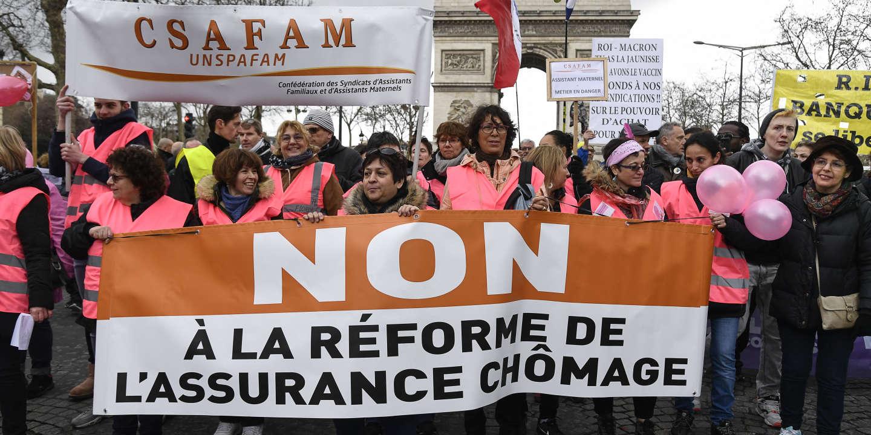 Les syndicats font front commun contre la réforme de l'assurance-chômage - Le Monde