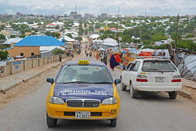 Un taxi àMogadiscio, en mai 2013.