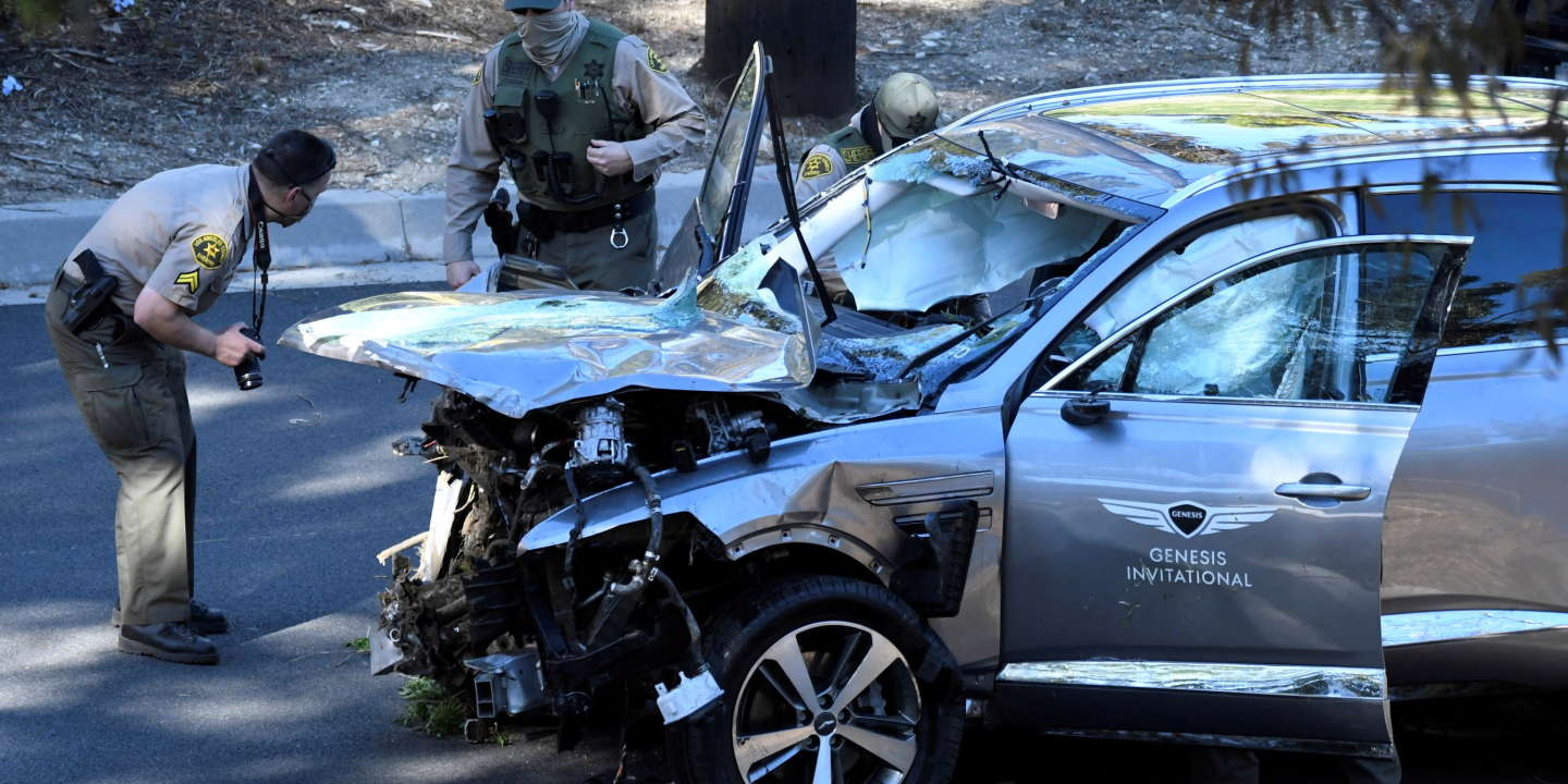 Le golfeur Tiger Woods gravement blessé après un accident de voiture à Los Angeles - Le Monde