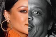 A gauche, Rihanna, à New York, en 2020. A droite, Jay-Z, à New York, en 2019.