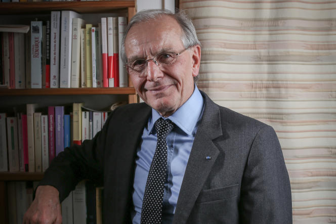 Le généticien Axel Kahn en 2018.