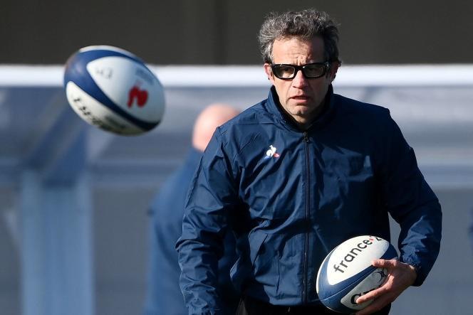 Fabien Galthié, l'entraîneur de l'équipe de France de rugby masculin, le 11 février 2021.