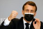 Emmanuel Macron à l'Elysée, à Paris, le 18 février 2021.