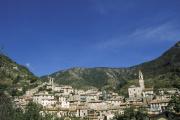 Lucéram (Alpes-Maritimes), dans l'arrière-pays niçois.